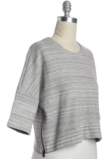 DEREK LAM 10 CROSBY Gray Seersucker Western Top