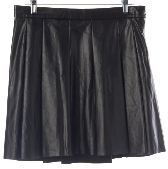 DEREK LAM 10 CROSBY Black Pleated A-Line Casual Mini Skirt