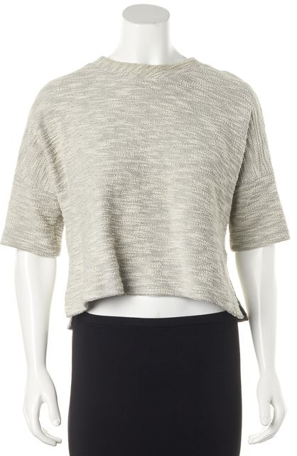 DEREK LAM 10 CROSBY Gray Knit Top