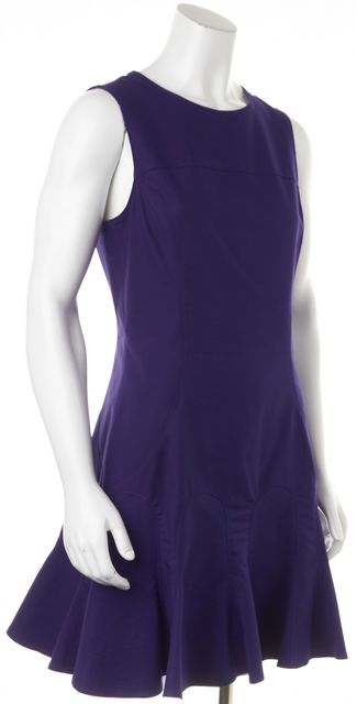 DEREK LAM 10 CROSBY Purple Sheath Dress