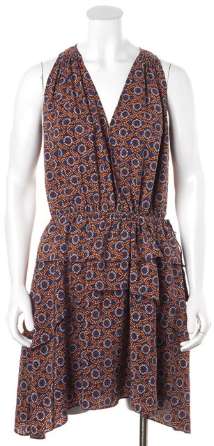 DEREK LAM 10 CROSBY Multi-Color Silk Geometric Fit & Flare Dress