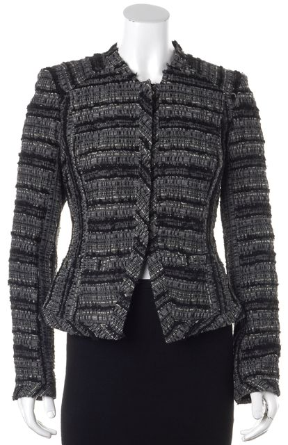 DEREK LAM 10 CROSBY Multi-color Tweed Basic Jacket