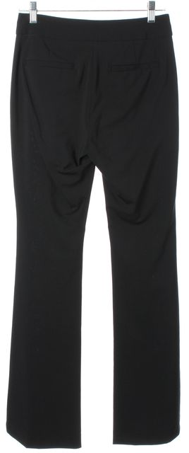 DEREK LAM 10 CROSBY Black Wool Wide Leg Trouser Dress Pants