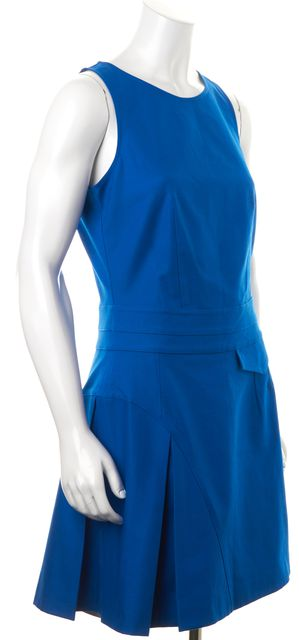 DEREK LAM 10 CROSBY Blue Sleeveless Dress