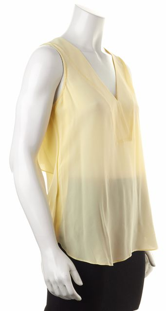 DEREK LAM 10 CROSBY Yellow Silk Tank Top