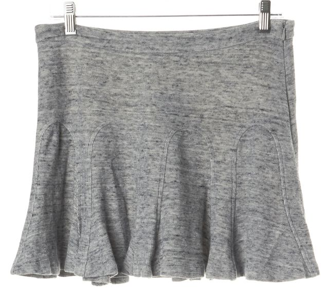 DEREK LAM 10 CROSBY Heather Gray Godet Skirt