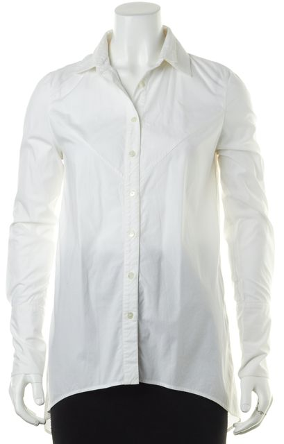DEREK LAM 10 CROSBY White Long Sleeve Button Down Shirt
