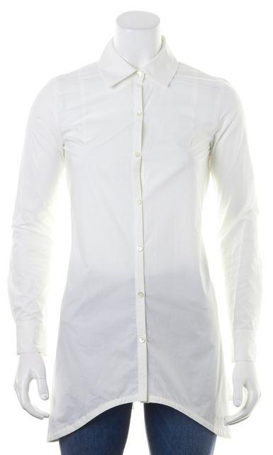 DEREK LAM 10 CROSBY White Back Tied Long Sleeve Button Down Shirt