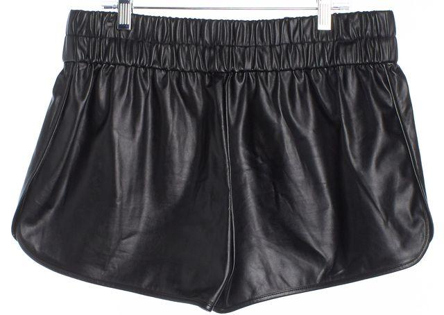DEREK LAM 10 CROSBY Black Faux Leather Dress Shorts
