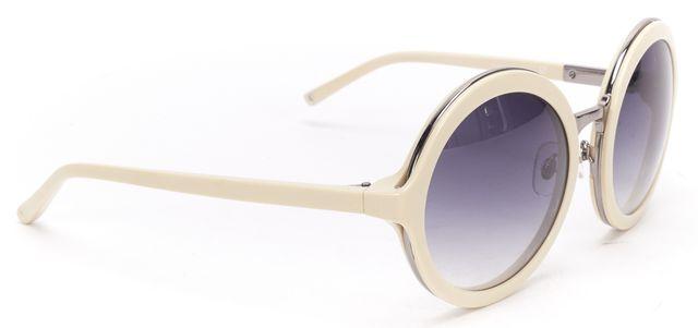 LINDA FARROW X 3.1 PHILLIP LIM White Acetate Frame Gradient Lens Sunglasses