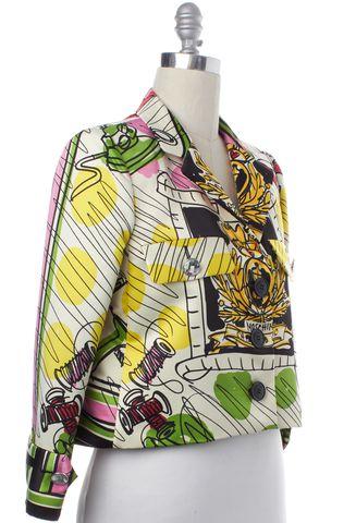 MOSCHINO CHEAP & CHIC Ivory Multi Paint Print Jacket