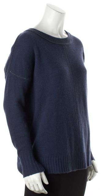 27 MILES Blue Cashmere Crewneck Sweater