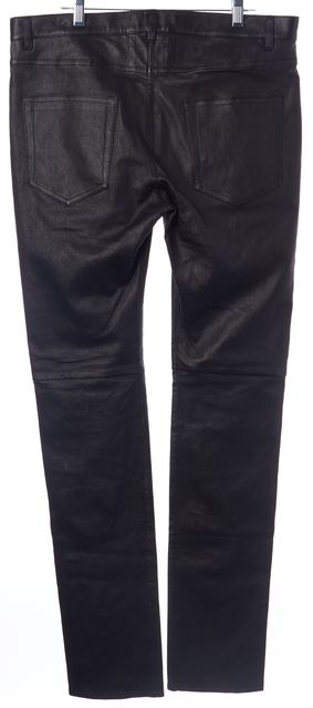 SAINT LAURENT MENS Black Lamb Leather Pants