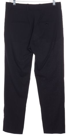 3.1 PHILLIP LIM Black Wool Trousers Pants Size 4
