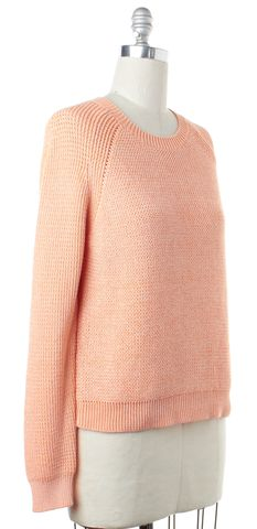 3.1 PHILLIP LIM Orange Cotton Knit Crewneck Sweater Size S