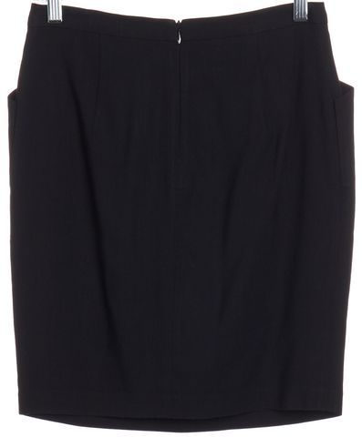 3.1 PHILLIP LIM Black Pleated Pencil Skirt Size 4