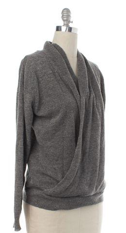 3.1 PHILLIP LIM Gray Wool Wrap Cardigan Fits Like a L