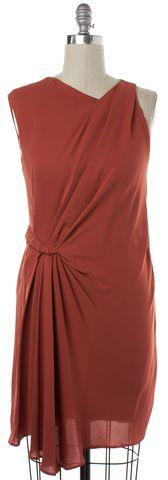 3.1 PHILLIP LIM Orange Silk Sleeveless Sheath Dress Size 8