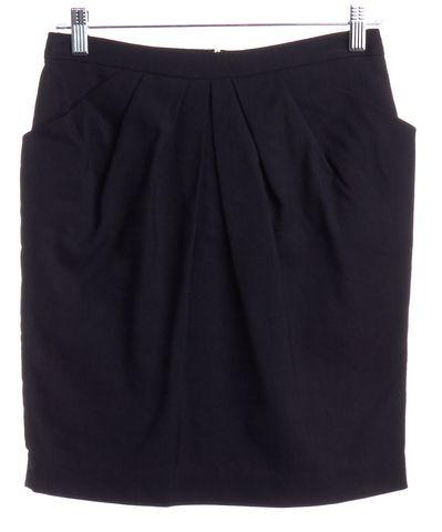3.1 PHILLIP LIM NWOT Black A-Line Pleated Skirt Size 4
