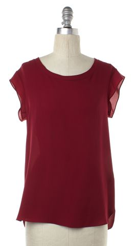 3.1 PHILLIP LIM Red Silk Blouse Size 2
