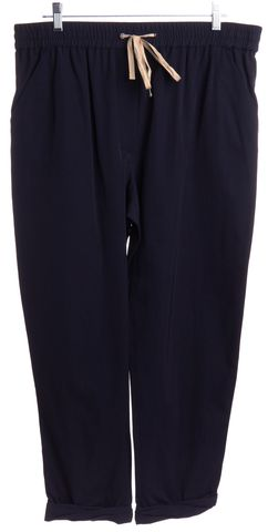 3.1 PHILLIP LIM Navy Blue Drawstring Jogger Pants Size 10