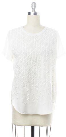 3.1 PHILLIP LIM White Embroidered Silk Top Size 6
