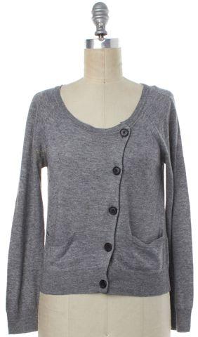 3.1 PHILLIP LIM Gray Asymmetric Button Down Cardigan Size M