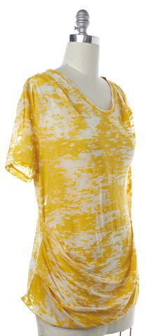 3.1 PHILLIP LIM NEW NWT Mustard Yellow Burn Out T-Shirt Size L