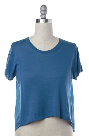 3.1 PHILLIP LIM NEW NWT $156 Sapphire Blue T-Shirt Size L