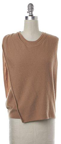 3.1 PHILLIP LIM Tan Brown Wool Crewneck Wrap Sweater Size XS