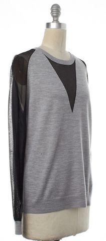 3.1 PHILLIP LIM Gray Merino Wool Crewneck Sweater Size M