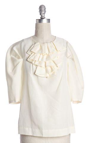 3.1 PHILLIP LIM Ivory Ruffled Blouse Size 6