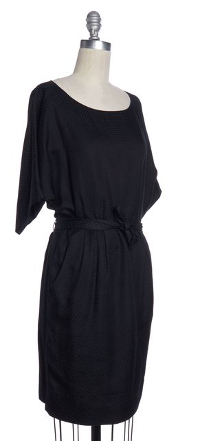 3.1 PHILLIP LIM Black Plaids & Checks Silk Blouson Dress