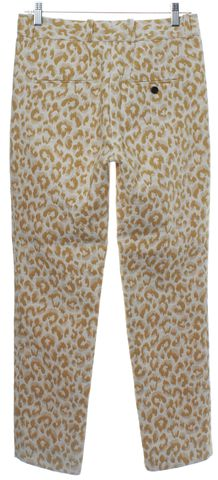 3.1 PHILLIP LIM Yellow Beige Leopard Print Casual Pants