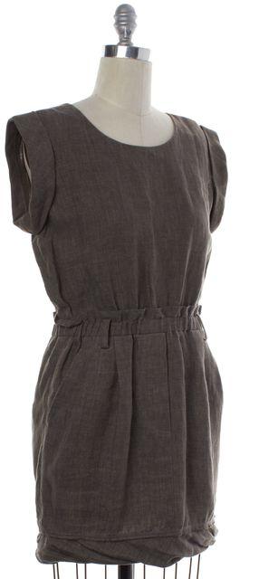 3.1 PHILLIP LIM Brown Linen Cap Sleeve Shift Dress
