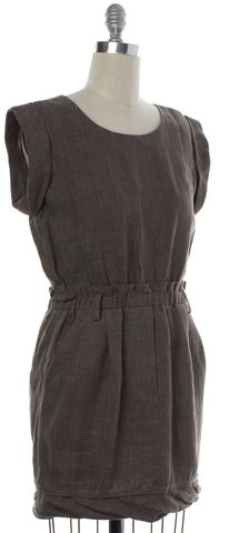 3.1 PHILLIP LIM Brown Linen Cap Sleeve Shift Dress