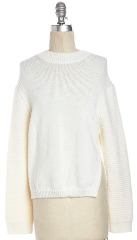3.1 PHILLIP LIM Ivory Cotton Knit Crewneck Sweater