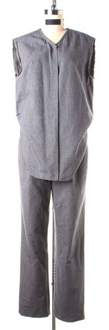 3.1 PHILLIP LIM Gray Black Plaid & Check Jumpsuit