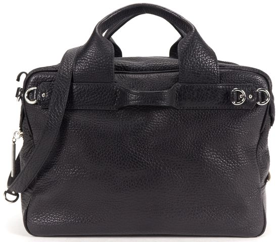 3.1 PHILLIP LIM Black Pebble Leather Top Handle Satchel Bag