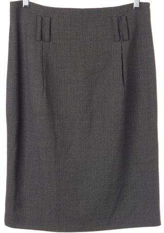 3.1 PHILLIP LIM Black Gray Houndstooth Wool Pencil Skirt