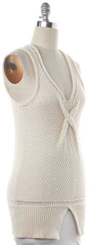 3.1 PHILLIP LIM Ivory Knit V Neck Top
