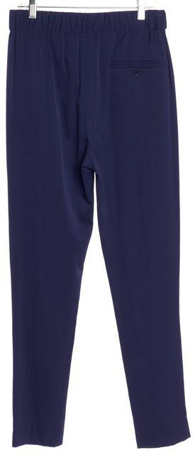 3.1 PHILLIP LIM Cobalt Blue Silk Pleated Slim Pants