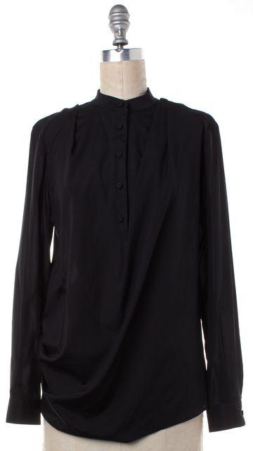 3.1 PHILLIP LIM Black Silk Button Up Blouse
