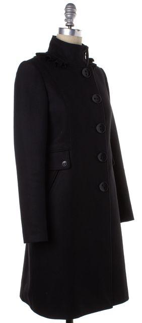 3.1 PHILLIP LIM Black Wool Ruffle Button Down Coat