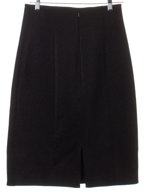 3.1 PHILLIP LIM Black Metallic Textured Pencil Skirt