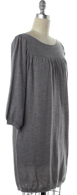 3.1 PHILLIP LIM Gray Wool Knit Shift Dress