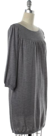 3.1 PHILLIP LIM Gray Wool Knit Shift Dress