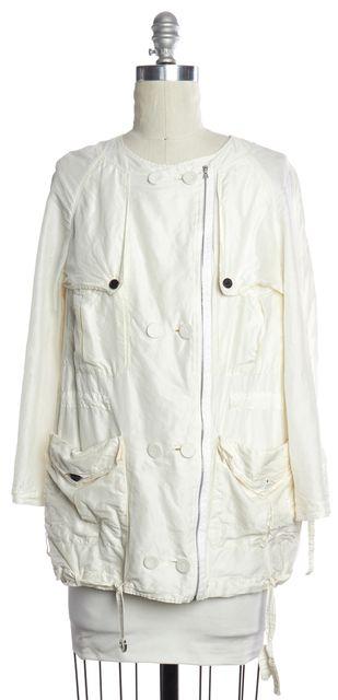 3.1 PHILLIP LIM White Silk Light Parka Jacket