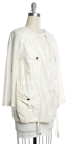 3.1 PHILLIP LIM White Silk Light Parka Jacket