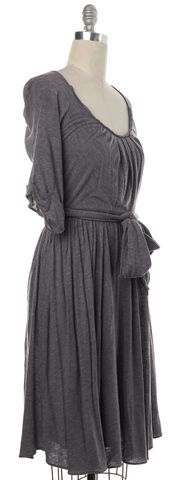 3.1 PHILLIP LIM Heather Gray Pleated Jersey Dress